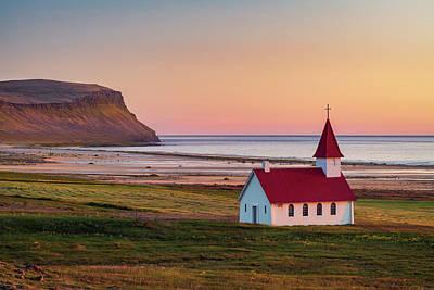 Photograph - Sunset Over Breidavik by Michael Blanchette