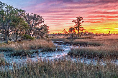Photograph - Sunset Over Chisolm Island by Scott Hansen