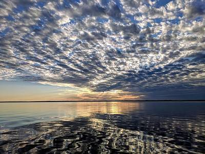 Photograph - Sunset over Colonial Beach by Mike Jenkins