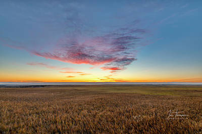 Photograph - Sunset Over Grasslands by Jim Thompson