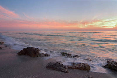 Photograph - Sunset Over Gulf Of Mexico From by Myloupe/uig