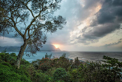Photograph - Sunset Over Hanalei Bay From St Regis by Belinda Greb