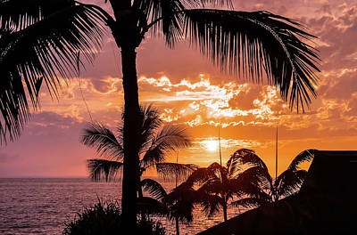 Photograph - Sunset Over Keauhou Bay by Dawn Richards