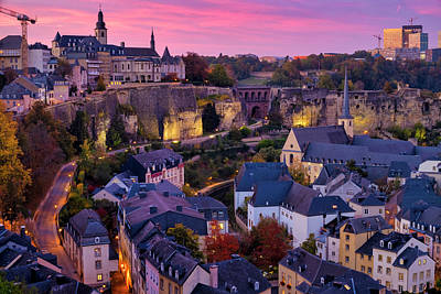 Photograph - Sunset Over Luxembourg City  by Fabrizio Troiani