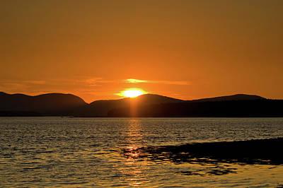 Photograph - Sunset Over Mt. Desert Island by Paul Mangold