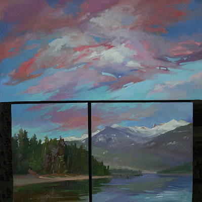 Betty Billups Wall Art - Painting - Sunset Over Priest Lake, Id by Betty Jean Billups