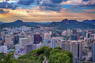 Photograph - Sunset Over Seoul by Rick Berk