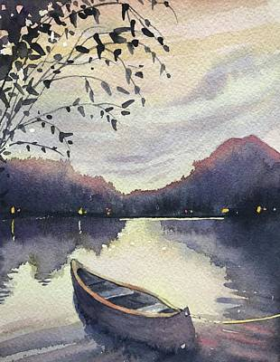 Animal Watercolors Juan Bosco - Sunset Over SugarLoaf by Luisa Millicent