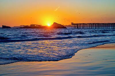 Photograph - Sunset Over Sunken Ship by Garry Gay