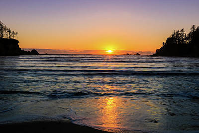 Photograph - Sunset Over Sunset Bay, Oregon 2 by Dawn Richards