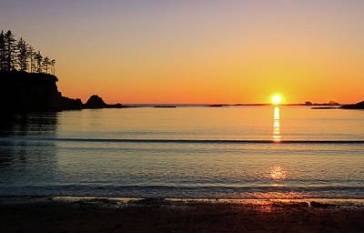Photograph - Sunset Over Sunset Bay, Oregon 3 by Dawn Richards