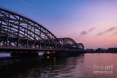 Photograph - Sunset  Over The Elbe by Marina Usmanskaya