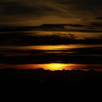 Photograph - Sunset Over The Rockies by Philip Rispin
