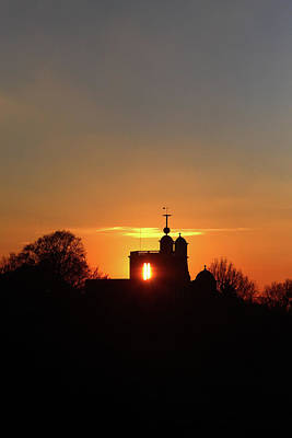 Photograph - Sunset Over The Royal Observatory At Greenwich Park, London by Aidan Moran
