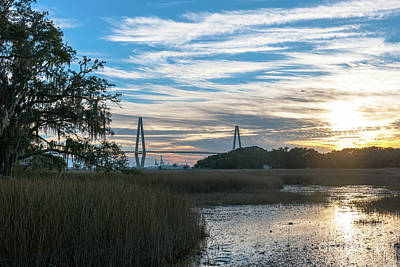 Photograph - Sunset Over The Salt Marsh by Dale Powell