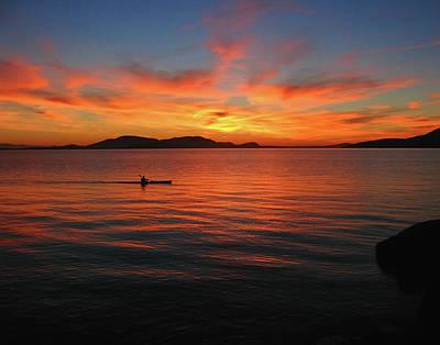 Photograph - Sunset Over The San Juan Islands by Curt Remington