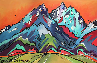 Painting - Sunset Over The Tetons by Nicole Gaitan