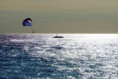 Photograph - Sunset Parasailing by Norma Brock