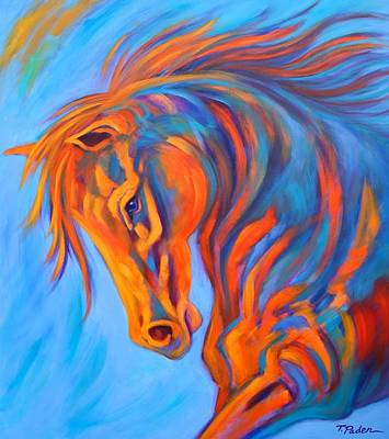 Wall Art - Painting - Sunset Racer by Theresa Paden