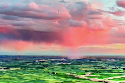 Photograph - Sunset Rain Over The Palouse by Bryan Carter