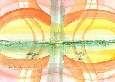 Painting - Sunset Reflection by Sheri Jo Posselt