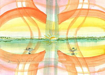 Painting - Sunset Reflection by Sheri Jo Posselt