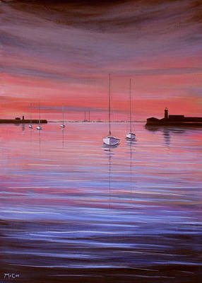 Painting - Sunset Reflections by K McCoy