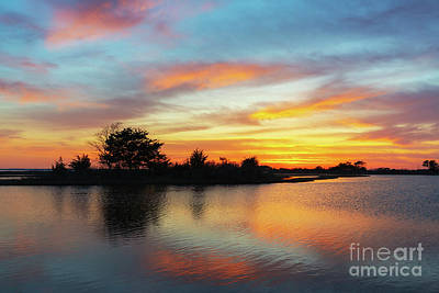 Photograph - Sunset Reflections Over Sinepuxent Bay by Michael Ver Sprill