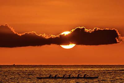 Photograph - Sunset Row by John Bauer