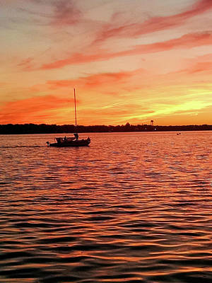 Photograph - Sunset Sail by Linda Henne