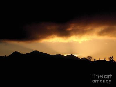 Photograph - Sunset Silhouette Killarney by Pauline Christie