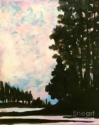 Painting - Sunset Sky by Wonju Hulse