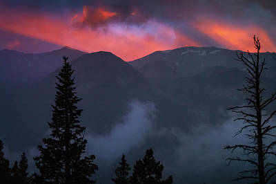 Photograph - Sunset Storms Over The Rockies by John De Bord