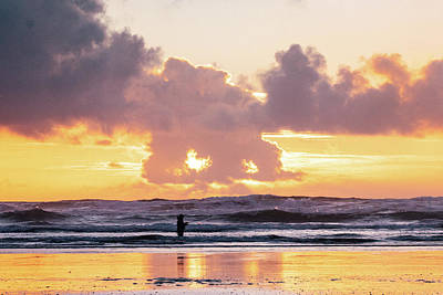 Photograph - Sunset Surf Fishing by Lost River Photography