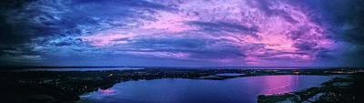 Superhero Ice Pop - Sunset through thick Hurricane Michael feeder clouds by Michael Daniels