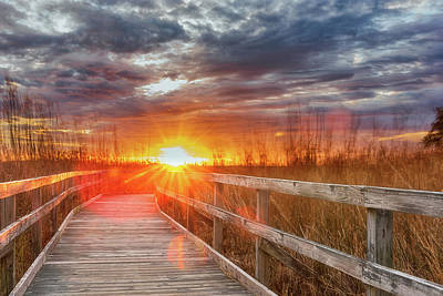 Photograph - Sunset Walk by Russell Pugh