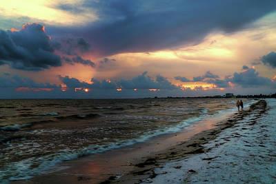 Florida Sunset Wall Art - Photograph - Sunset Walk by Tom Mc Nemar