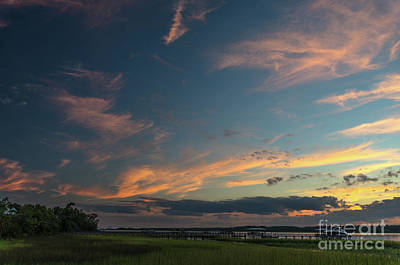 Photograph - Sunset - Wando River In Charleston Sc by Dale Powell