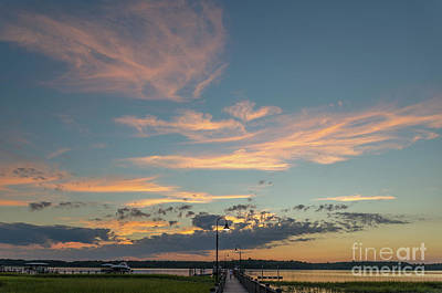 Photograph - Sunset - Wando River In Mount Pleasant South Carolina  by Dale Powell
