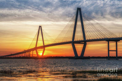 Photograph - Sunset Warm Glow Over Charleston by Dale Powell