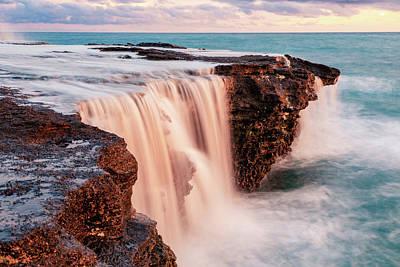 Photograph - Sunset Waterfall by Bodhi Hutton