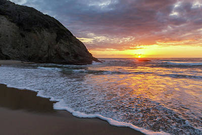 Photograph - Sunset Waves Dana Point by Cliff Wassmann