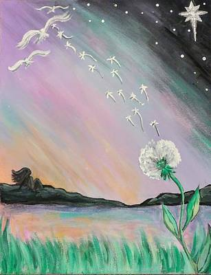 Painting - Sunset Wishes by Lisa Bunsey