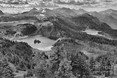 Photograph - Sunshine Meadows Overlook Black And White by Adam Jewell