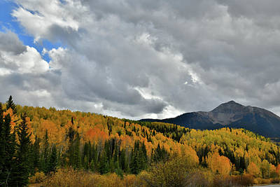 Photograph - Sunshine Mountain And Golden Aspens by Ray Mathis