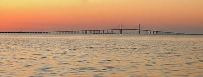 Sunshine Skyway Bridge Wall Art - Photograph - Sunshine Skyway Bridge At Sunrise by Don Johnston