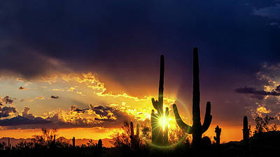 Photograph - Sunstar Silhouette Sunset  by Saija Lehtonen