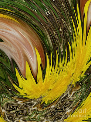 Digital Art - Sunstone And Dandelion Alchemy by Rachel Hannah
