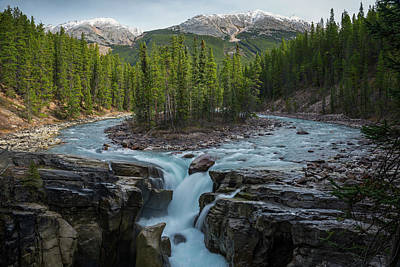 Photograph - Sunwapta Falls, Rocky Mountains by Laurenepbath
