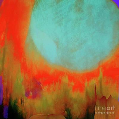 Super Blue Moon Art Print